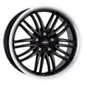 Alutec BlackSun 8,5x19 5x112 ET40 70,1 Racing Black Lip Polished