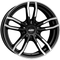 Alutec Drive 7,5x17 5x112 ET52 66,5 Diamond Black Front Polished